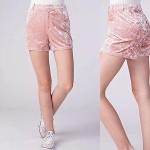 Honey Punch Velvet Shorts